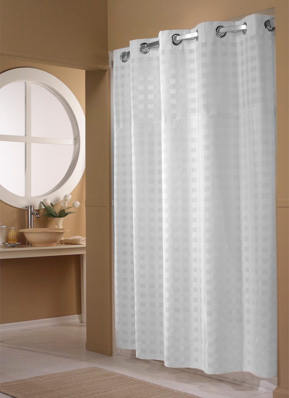 weave hookless shower curtain hilton to home hotel collection